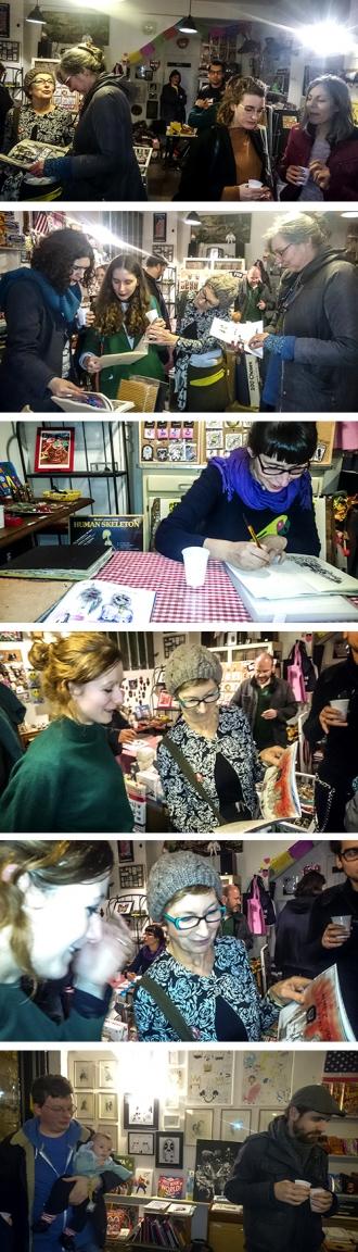 photos : signatures au pied de biche